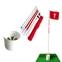5 teilige Golf Flag Stick Pole Putting Green Training Cup Loch Mark Flags 2
