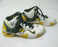 NIKE SHOX Mens White Green Leather Basketball Shoes (Size 6) Oregon Ducks Color