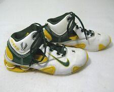 d451e9c8827c NIKE SHOX Mens White Green Leather Basketball Shoes (Size 6) Oregon Ducks  Color