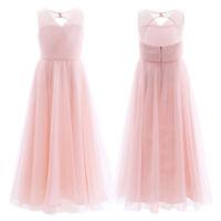Flower Girl Dress Kid Junior Bridesmaid Wedding Party Princess Ballgown UK Stock