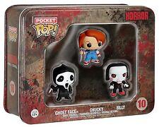 Funko Pocket Pop Horror Tin Set 10 Childs Play Chucky Scream Ghostface Saw Billy