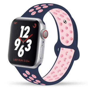 For Apple Watch Series 6 5 4 3 SE Silicone Sport Band iWatch Strap 38/42/40/44mm