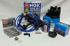 Cap-Rotor-NGK Wires-Spark Plug PCV Tine Up Kit 88-91 Honda Civic CRX D16A6