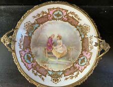 Antique french centerpiece bowl Sevres Chateau des Tuileries - Ormolu bronze
