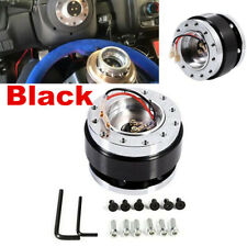 Black Aluminium Car Steering Wheel Quick Release HUB Adapter Snap Off Boss Kit