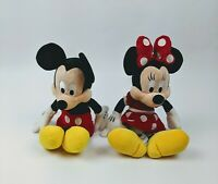 """Disney Parks Authentic 12"""" Mickey and Minnie Mouse Plush Characters"""