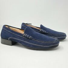 Cole Haan Country Navy Blue Suede Penny Loafers Men's Size 11 B Brazil