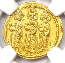 Byzantine Heraclonas Heraclius AV Solidus Gold Coin 632-641 AD - NGC MS (UNC)