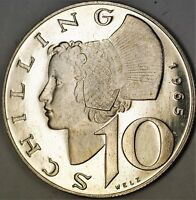 1965 Austria 10 Shillings Gem Proof Silver Coin