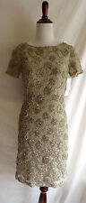 NWT Sue Wong Size 4 Lace Ribbon Embroidered Formal Bridesmaid Dress Evening Gown