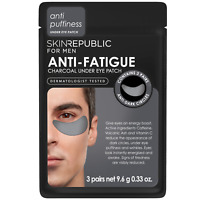 Skin Republic 3x MENS Anti-Fatigue Charcoal Under Eye Mask Patches Reduce Circle