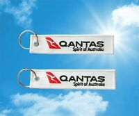 Qantas Airlines Keychain Keyring Baggage Luggage tag