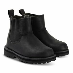 Timberland Courmakid Chelsea BLACK Leather  A28QA CHELSEA Boot with Side Zip
