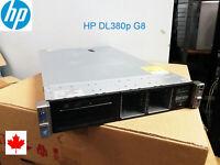 HP ProLiant DL380p G8 8 bays 2*E5-2620 12 Cores 32GB P420i 4*1GB 2*600G or SSD
