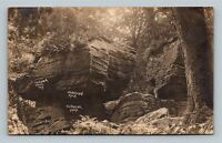 RPPC Panama NY, Hanging Rock, New York Real Photo Postcard