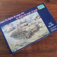 Unimodel 270 - 1/72 Panzer III Ausf H Scale Plastic Model Kit WW II UM 270