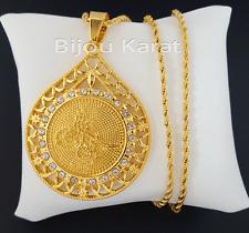 Osmanli Tugra Gold Münze Kette 22 Karat GP Altin Kaplama Cumhuriyet Kolye XXL