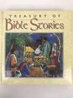 Treasury of Bible Stories Kids Illustrated Hard Cover Read Aloud Homeschool