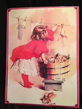 Vintage Metal Tin Sign Poster Washing Dollies Clothes Wall Decor Gifts Dolls