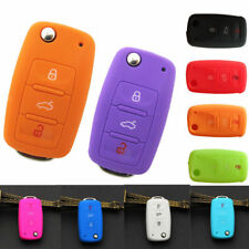 Silicone Car Remote Key Cover Case Shell For VW Golf Bora Jetta POLO GOLF Skoda