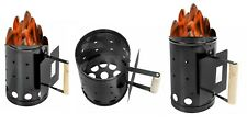 Barbecue BBQ Chimney Starter Charcoal Grill Steel Rapid Quick Fire Lighter GARDE