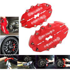4PCs New Style 3D Red Disc Brake Caliper Covers Front & Rear Kits Auto Parts