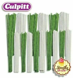 Florist Wire for Sugarcraft Cake Decorations & Flowers White & Green