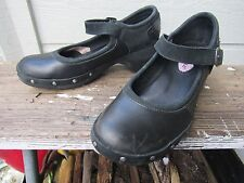 Merrell Black Leather Mary Jane Sport Clog US 7 EU 37.5 Nail-Head MUST SEE