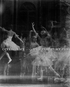 Black & White Ghostly Abstract Nutcracker Ballet Dancers Photograph Cyril Place