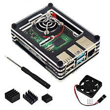 Acrylic Case with Cooling Fan Heatsinks for Raspberry Pi 4B UK