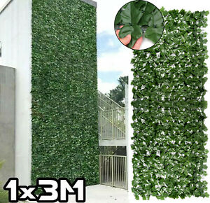 3m x 1m Artificial Ivy Leaf Garden Fence/Wall Privacy Screening Hedge Roll Decor