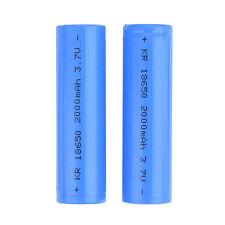 2pcs New 18650 Rechargeable Li-ion Vape Battery 2000mAh 3.7V Unprotected Flat PK