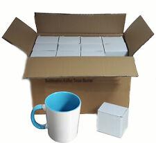(1,39€/1Stk) Sublimation Fototasse 36 Stück Kaffee Tassen Becher WEISS - HENKEL