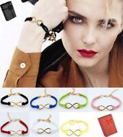 New Womens Bracelet Handmade Leather Braided Surfer Wristband Bracelet Bangle UK