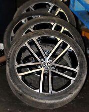 "*GENUINE 18"" VW Golf MK7 NOGARO ALLOY WHEELS TYRES 5G0601025AO / GTD GTI R"