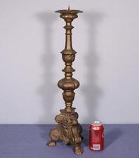 "*25"" Antique Bronze Neo Gothic Candlestick Church Candelabra with Flower Motif"