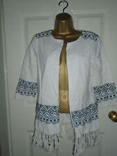 Atmosphere Fringe White Aztec Jacket / Cardigan Size 6 - Worn twice