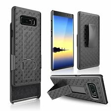 For Samsung Galaxy Note 8 Verizon Slim Fit Hard Shell Holster Black Combo Case