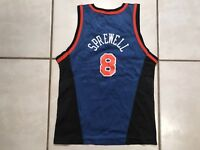 purchase cheap 93e8b 3929d Vintage 90s Champion LATRELL SPREWELL NEW YORK KNICKS Youth ...