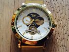 Minoir Germany automatic watch open heart day and night  - new original box