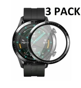 (3 Pack) Full Cover Screen Protector For Huawei Watch GT 2 46mm