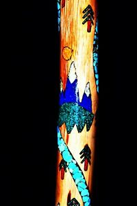 """New Mexico Handmade""""Purple Mountains""""Cane/Hiker/Inlaid Turquoise,Sodalite,MOP!!!"""