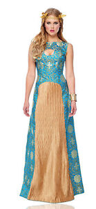 Noble Lady Womens Blue Lady In Waiting Dress Halloween Costume
