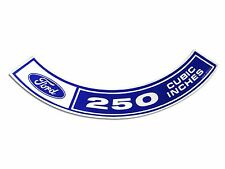 Mustang Air Cleaner Decal 250 1970 - 1971 - Osborn Reproductions