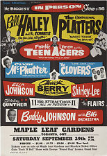 """Bill Haley and the Comets / Platters 16"""" x 12"""" Photo Repro Concert Poster"""