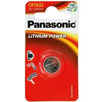 2 x PANASONIC CR1632 CR 1632 ECR1632 Lithium Battery Coin Cell Use By 2028