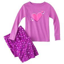 Schlafanzug~USA~Gr.80~Zweiteiler~Pyjama~Nachtwäsche~lang~lila~Herzen~Fleece~neu