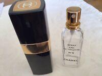 Chanel no5 eau de toilette atomiser spray casing with  50ml empty bottle