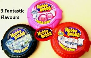 Hubba Bubba Mega long 3 Fantastic Flavours Snappy Strawberry Cola Fancy Fruit