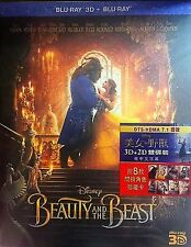 "BEAUTY AND THE BEAST 2016 ""Emma Watson"" (3D + 2D) 2 DISCS (BLU-RAY) ALL REGION"